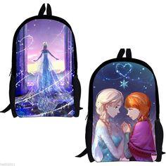 Girls Kids Frozen Princess Anna Queen Elsa Backpack School Bag Rucksack Bookbag