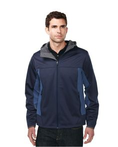 Hoody jacket mens contrast side panel with zipper pocket (100% polyester). Tri mountain J6158 #Hoody #HoodedJacket #casual