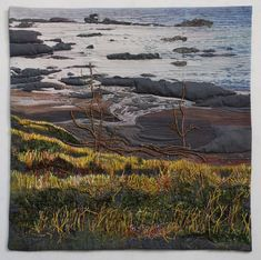 Textile Art, Fiber Art, Textiles, Quilts, Mountains, Water, Travel, Color, Scrappy Quilts