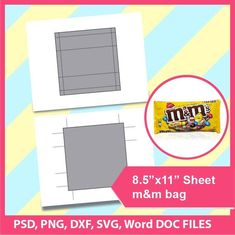 Instant Download Bundle Pillow Box 8.5x11 sheet Printable SVG PSD PNG Ms word Dxf Gift Box Template