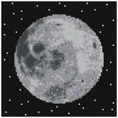 PDF Cross Stitch pattern 0063.Moon gray INSTANT by PIXcross