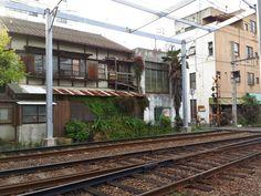Voie Ferrée dans Kawaramachi. #japon #takamatsu