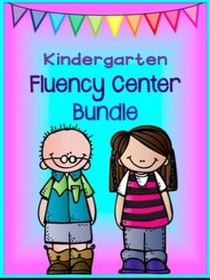 Kindergarten reading level fluency centers. These can be used as a center or a file folder activity. They work great for those students who finish early! $