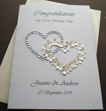 Silver Glitter Wedding Invitations Handmade Invitations Cards