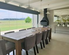 Gowrie Farm House 217 (Sleeps is a modern self-catering house located on the secure Gowrie Farm Golf Estate in Nottingham Road, in the KwaZulu-Natal Midlands. Nottingham Road, Golf Estate, Kwazulu Natal, Farm House, Catering, Dining Table, Modern, Furniture, Home Decor