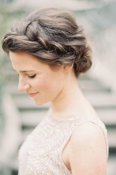 loose braided up-do | wedding hair styles