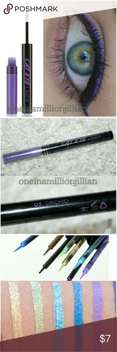 Cat Eye Liner Liquid Eyeliner - Orchid New/Sealed (Swatches from Google)  Full Size & Authentic  Color: Orchid  Hi pretty kitty .. step away from your everyday liner & rock out with fabulous color! Smudge-proof & mistake-proof, you'll get a clean & easy line every time! Snatch this liquid liner up right meow!   ☆ Quick-drying liquid liner ☆ Lines, defines, accentuates ☆ Glides on smooth & snag-free ☆ Mistake-proof brush  Don't forget to check out the rest of my page for more great items…