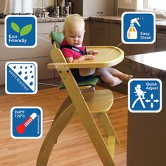 13 Best Wooden Baby High Chair Images Wooden High Chairs