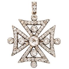 Georgian Maltese Cross | From a unique collection of vintage drop necklaces at http://www.1stdibs.com/jewelry/necklaces/drop-necklaces/