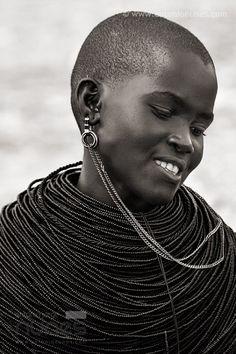 "a–fri–ca: "" Samburu Girl, Kenya - Photo by antonio nunes """