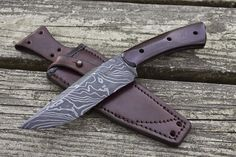 Guinea Hog Forge: Rover in Obsidian Twist Damascus - New Knife Design, New Finish