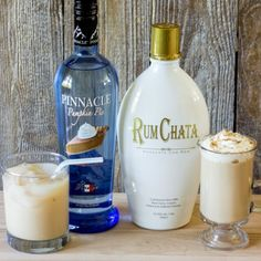 RumChata and pumpkin pie vodka are the secret ingredients to this amazing fall cocktail, the drunken pumpkin latte. Serve hot with whipped cream or over ice (liquor drinks alcohol) Fall Cocktails, Holiday Drinks, Cocktail Drinks, Cocktail Recipes, Alcoholic Drinks, Drink Recipes, Thanksgiving Drinks, Vodka Drinks, Liquor Drinks