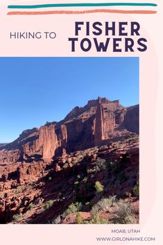 Hiking to the Hiking The Fisher Towers, Moab, Utah - Girl on a Hike Moab Utah, Natural Bridge, Bungee Jumping, Hiking Tips, Camping With Kids, Outdoor Woman, Amazing Destinations, Towers, Trekking
