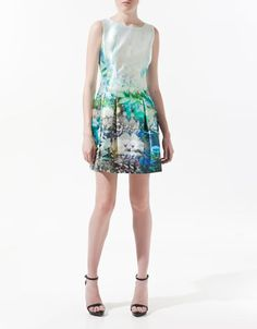 FISH PRINT DRESS - Dresses - Woman - ZARA United States