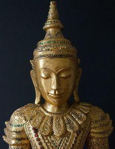 Tai Yai Art - Shan Wooden Burmese Buddha Statue