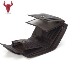 1f9c26754fd6 LY. акула Для мужчин Женские Кошельки Пояса из натуральной кожи Для мужчин  бумажник мужской клатч портмоне масло воск тонкий короткий Для мужчин  кошелек ...