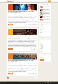 It's the sample web page design of a blog. The website has been beautifully designed by the developers of Esolz Technologies Pvt Ltd.