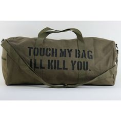 Details Magazine Weekend Military Duffle Bag Project ❤ liked on Polyvore featuring bags, handbags, navy blue purse, army purse, military duffel bag, navy duffle bag and military style duffle bag
