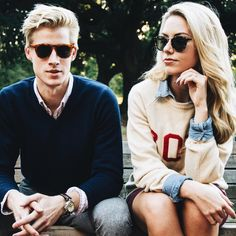preppy staples // sweater, preppy, collegiate, sunglasses