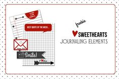 Free Printable Download -  Sweethearts Journaling Elements