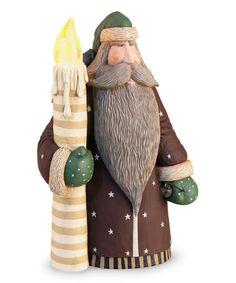 Santa & Lighted LED Candle Figurine #zulily #zulilyfinds