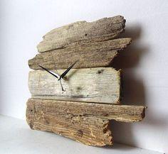 Driftwood Clock Wall Beach Clock Recycled Wood by NaturalClocks Wall Clock Project, Wall Clock Design, Clock Wall, Rustic Wall Clocks, Wood Clocks, Diy Clock, Clock Decor, Pallet Clock, Diy Wood Wall