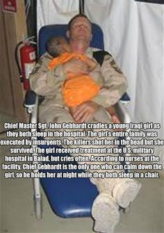 Why I love the military and support them.