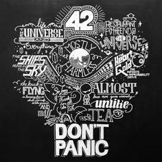 hitchhiker's guide to the galaxy typographic art | ... from Hitchhiker's Guide to the Galaxy #art #typography #Indonesia