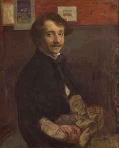 Wojciech Weiss · Autoritratto · 1900 · Ubicazione ignota