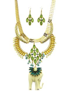 They made a movie about your life. It's currently on Long Wait on Netflix.  Our Bollywood Dreams necklace set is a piece to behold. Vintage inspired rhinestones and carved elephant. Gold chains and lucite beads.   Simply a stunner.   Necklace is 14 inches long. Earrings are standard fish hook. #SweetSangria #jewelry #trending #eyecandy #unique #boho #accessories #fashion #coolmom #womensjewelry