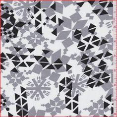 Ivory/Grey Geometric Challis (FFC)