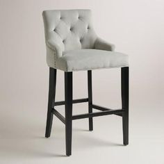 $169 + $20 shipping. One of my favorite discoveries at WorldMarket.com: Dove Gray Lydia Barstool