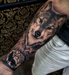 125 best half sleeve tattoos for men: awesome designs + ideas (guide . - 125 best half sleeve tattoos 125 best half sleeve tattoos for men: awesome designs + ideas (guide . - 125 best half sleeve tattoos for men: cool designs + ideas guide) - Wolf Sleeve, Wolf Tattoo Sleeve, Half Sleeve Tattoos For Guys, Cool Tattoos For Guys, Tattoo Sleeve Designs, Tattoo Designs Men, Wolf Tattoo Shoulder, Forearm Sleeve, Tattoo For Man