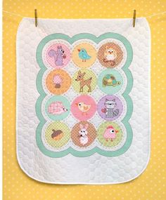 Baby Hugs Happi Woodland Quilt - Stamped Cross Stitch Kit