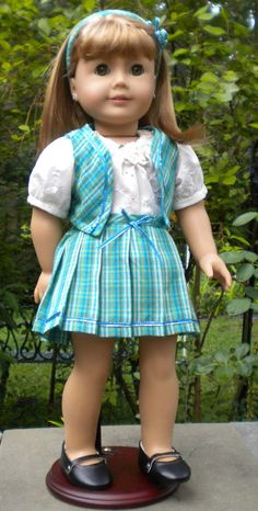 INSPIRATION: Great idea for Skirt and Bolero for 18-inch dolls by mydollyscloset1