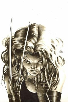 """comic-book-ladies: """" X-23 by Mike Deodato Jr. """" Marvel"""