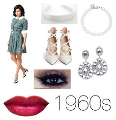 """1960s"" by x-jademurphy-x ❤ liked on Polyvore featuring Collectif, Tiffany & Co. and Gianvito Rossi"