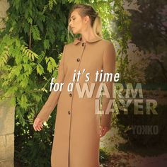 It's time for a warm layer. Smart Coat, Fall Jackets, Cold Day, Quilted Jacket, Wool Coat, Duster Coat, Layers, Cover Up, Cold Shoulder Dress