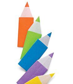 Origami bookmarks.