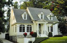 Just cute--1930s classic American cottage. Stephen Fuller Designs.