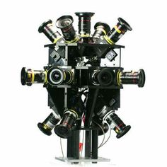 Headcase Cinema Quality VR 360 rig | 12 - bit raw files | high quality c-mount lenses