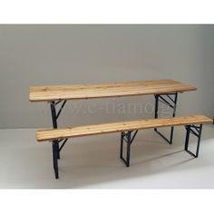 Ενοικίαση Σετ τραπέζι 200cm Χ 70cm με 2 πάγκους 200cm Χ 40cm