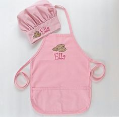 Personalized Apron AND Chef Hat for Kids - Childrens Personalized Apron and Chef Hat - Cookies. $38.00, via Etsy.