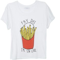 Fry Day Tee (€15) found on Polyvore #t-shirt #funny #fashion #outfit #print