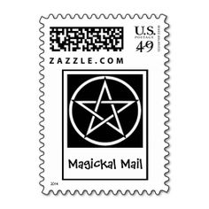 Magickal Mail Wiccan Pagan Postage Stamps by www.cheekywitch.com #zazzle #witch #wicca #wiccan #pagan #postage #postagestamps #snailmail #mail #pentacle #cheekywitch