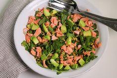 Poached Salmon, Watercress and Avocado Salad