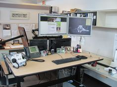 My new sit-stand work station from ISE.