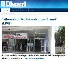 #Ischia #Tribunale salvo per 3 anni  #IlDispari quotidiano