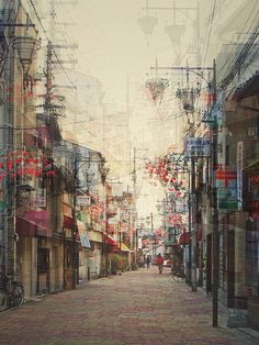 Thought this was an illustration but it's actually a photo! Amazing!   Multi-exposures of Japan by Stephanie Jung