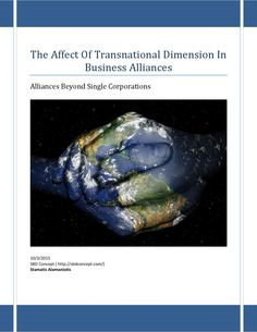 The affect of transnational dimention in business alliances (f)